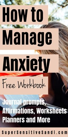 Workbooks are an extremely effective tool for managing anxiety and are great for mental health in general. Get your FREE Printable 15-page Anxiety Workbook PDF including journal prompts, affirmations for anxiety, anxiety worksheets, planners for better time management, and more | SuperSensitiveSandi.com | Control anxiety, help for anxiety, cope with anxiety, how to relieve anxiety, treating anxiety naturally, stress anxiety relief, how to relieve stress anxiety, ways to relieve anxiety