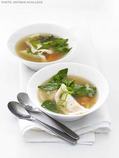 Chinese Dumpling Soup Recipe : Food Network Kitchens : Food Network - FoodNetwork.com