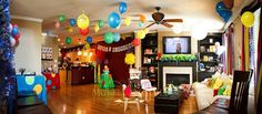 Over-the-top Dr. Seuss first birthday with great food ideas.