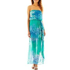f40033f66e90 Bisou Bisou® Strapless Floral Print Dress - jcpenney  45.00