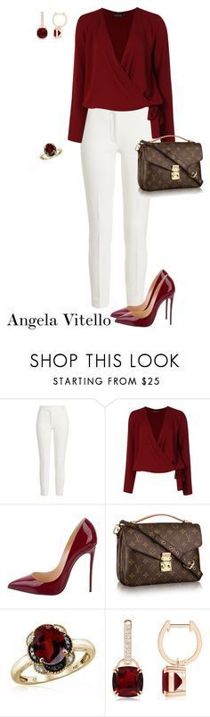 """Untitled #1099"" by angela-vitello on Polyvore featuring Joseph, Boohoo, Christian Louboutin and Jewelonfire #trendymoda"