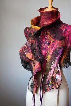 Nuno scarf wool silk OOAK | Flickr - Photo Sharing!