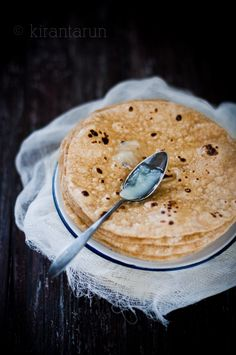Homemade Chapati {Indian flat-bread} — use a vegan butter