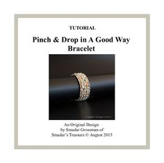 Beading Tutorial Bracelet Pattern, Pinch and Drop in A Good Way. Option to Reversible. Pinch and Dro Retro Chic, Handmade Beaded Jewelry, Sell Items, Beading Tutorials, Bracelet Patterns, Step By Step Instructions, Bead Weaving, Coupon Codes, Conditioner