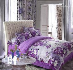 Purple doona cover