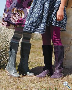 dresses, leggings, and boots....the perfect recipe for little girl fall!
