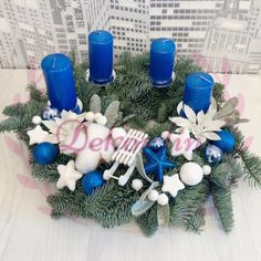 Hanukkah, Wreaths, Home Decor, Decoration Home, Door Wreaths, Room Decor, Deco Mesh Wreaths, Home Interior Design, Floral Arrangements