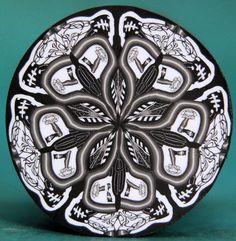 Polymer Clay Circle Kaleidoscope Cane