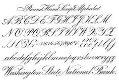 Round Hand | file name: Ross F George Speedball Book Round Hand Script 1927