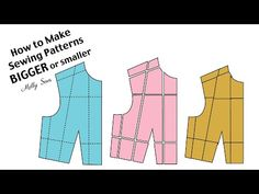 How to Make a Pattern Bigger or Smaller - Pattern Grading - YouTube