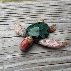 Glass sea turtle by sweatyglass