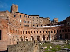 Trajan's Market and Forum, Rome. Featured at Fall Into Yesterday! http://fallintoyesterday.com/attractions-italy-rome-trajans-market-forum.html