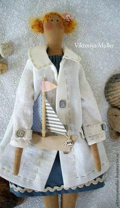 Куклы Тильды ручной работы. Ярмарка Мастеров - ручная работа Морячка. Handmade.