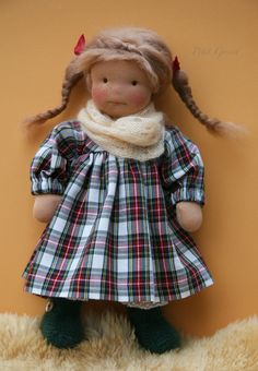 Who doesn't like surprises? Redhead Girl, North Coast, Waldorf Dolls, The Dreamers, Tartan, Doll Clothes, Blog, Teddy Bear, Crochet