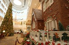 SUGAR AND SPICE: The delightful scent of gingerbread fills the lobby of Disney's Grand Floridian Resort & Spa where this Victorian gingerbread house is in place for the holidays. Description from lunch.com. I searched for this on bing.com/images