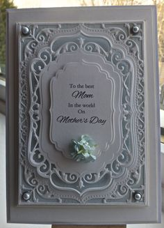 Hi everyoneWell I have purchased a new spellbinders die and it is gorgeous, I actually think it's my favourite so far.It is the 5x7 Elegant labels fourPerfect for a Mother's Day card...So first of...