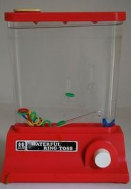 This fell off my closet shelf & broke my nose! But still loved these water games