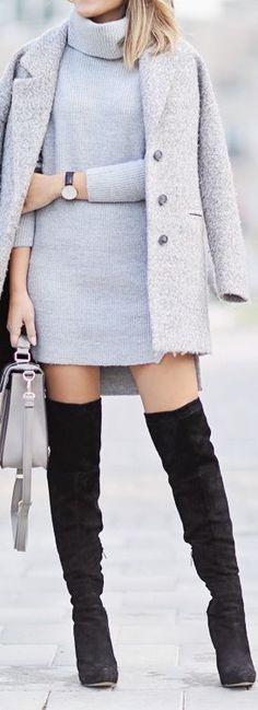 #fall #fashion / gray