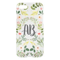Pink Pastel Flowers and Foliage iPhone 8/7 Case - flowers floral flower design unique style