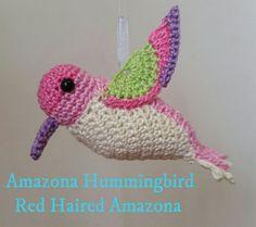 Nacarado Colibrí Amigurumi Crochet perfecto por RedHairedAmazona