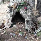 A few years ago, my daughter and I visited a nature center at a local state park, and spent the day building houses in the forests – fairy houses.