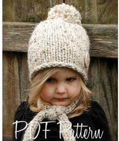 Knitting PATTERN-The Kymmber Slouchy (Toddler, Child and Adult sizes). $5.50, via Etsy.
