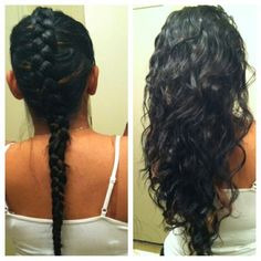 Braid your damp hair in a Dutch braid and sleep on it overnight and you have beautiful waves in the morning