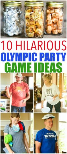 10 hilarious Olympics party games that are perfect for getting ready for the 2016 summer games in Rio! Fun for kids, for teens, and even for adults! Tons of simple minute to win it style activities that use things around the house. And for your winners? C