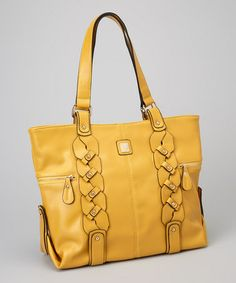 Take a look at this Mustard Bianca Braided Tote by V Couture by Kooba on #zulily today!