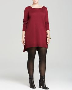 Eileen Fisher Plus Merino Wool Layering Dress