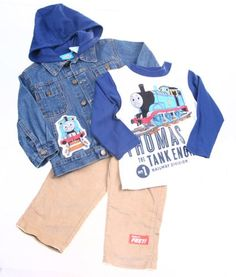Thomas & Friends Toddler Boys 3pc Denim Jacket, « Clothing Impulse