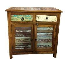 Artisan Cream Floral Reclaimed Accent Chest | 55DowningStreet.com ...