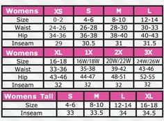 fe0af558388 pant sizes chart for women - Google Search Body Measurement Chart