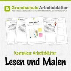 Kostenlose Arbeitsblätter und Unterrichtsmaterial für den Deutsch-Unterricht zum Thema Lesen und Malen in der Grundschule.