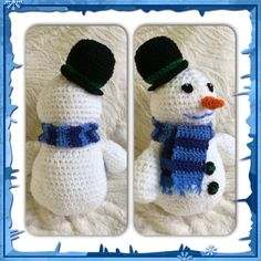 Crochet Chilly the Snowman from Disney's Doc McStuffins