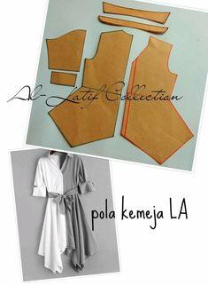 Kids Dress Patterns, Skirt Patterns Sewing, Blouse Patterns, Clothing Patterns, Sewing Clothes, Diy Clothes, Sewing Collars, Kids Frocks Design, Modelista