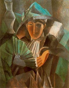 Picasso. Mujer con abanico. 1909 | Museo Estatal de Bellas Artes Pushkin | Abanico | http://hungerforstyle.blogspot.com.es/2013/07/refrescarse-con-elegancia.html