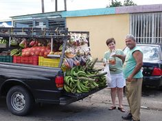 Bayamon, PR Many vendors sell from their vehicles or push carts down streets or stand outside grocery stores or thrift shops selling fruits and vegetables.