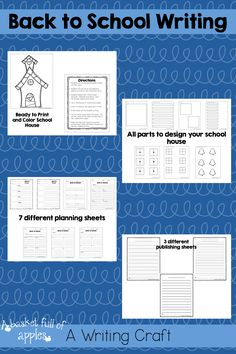 This is a fun and creative way for your students to work on writing. Your students will create a school house craft and include their writing with it. Use this activity to set goals for the upcoming school year. Your students will love creating this schoolhouse to set their goals for the upcoming year. And it makes a fun display for the start of the year too!