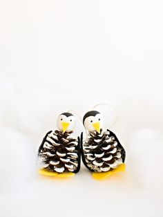 40 Easy And Cute Diy Pine Cone Christmas Crafts Holiday Homemade Pinecone Xmas Ornaments 18 Penguin Ornaments, Penguin Craft, Pinecone Ornaments, Ornament Crafts, Pine Cone Christmas Tree, Christmas Fairy, Christmas Crafts, Christmas Ornaments, Christmas Decorations