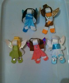 Tinkerbell and friends Disney ribbon sculpture hair clip/bow in Clothing, Shoes & Accessories, Baby & Toddler Clothing, Baby Accessories | eBay