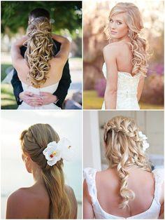 Los mejores peinados para novias con cabello largo suelto, recogido o semi-recogido. Te mostramos como elegir el peinado de novia 2014 que mejor te sienta!!