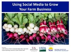Check out ATTRA's new webinar to learn moee about using social medial to grow farm business and market your products! Agriculture Information, Agriculture Projects, Appropriate Technology, Farm Business, Farmer, Sustainability, Social Media, Check, Products