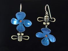 Perfect for summer! Bloom Earrings by Lisa and Scott Cylinder: Metal Earrings available at www.artfulhome.com