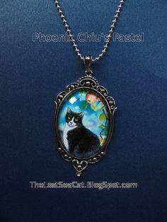 Tuxedo Cat Necklace  Cat Pendant Necklace  Animal by phoenixchiu