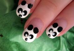 Cute Easy Nail Designs for Girls with Little Panda
