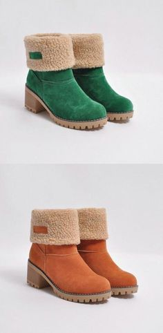 0632ea92f520 Free Shipping Order Over   80! Shop Now   Female Winter Shoes Fur Warm Snow  Boots Square Heels Ankle Boots  snowboots