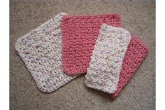 """A crocheted dishcloth can to bring a bit of homespun happiness into your kitchen or the kitchen of a loved one. Wash cloths are easy, useful and work up quickly, making them a good starter project for a beginning crocheter and a nice """"extra"""" to add to a last-minute gift. To clean, toss them in the washer and dryer, though dark-colored..."""