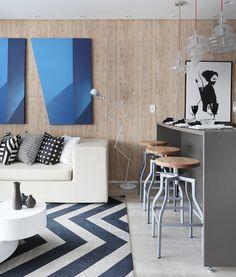 Nuances de azul valorizam e realçam o projeto Projeto Chris Silveira e foto: @marianaorsifotografia