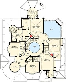 Luxury Country House Floor Plan 2
